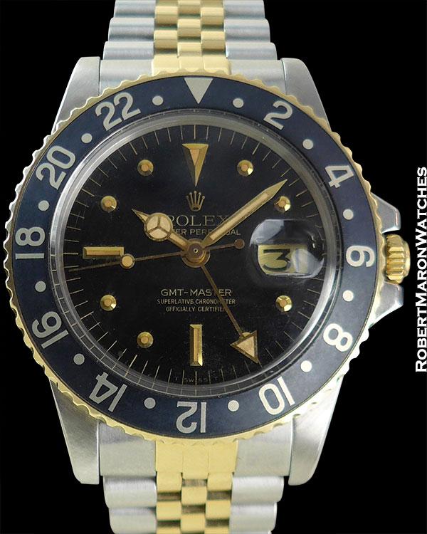 """ROLEX REF 16753 GMT """"BLACK GOLD"""" CIRCA 1979"""