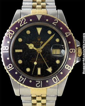 """ROLEX REF 16753 """"PRINCE"""" GMT MASTER RARE STARDUST DIAL"""