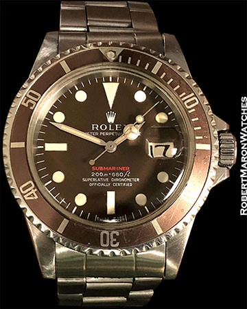 ROLEX 1680 RED SUBMARINER MK1 TROPICAL