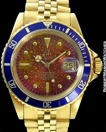 ROLEX 1680 RAINBOW TROPICAL DIAL SUBMARINER 18K