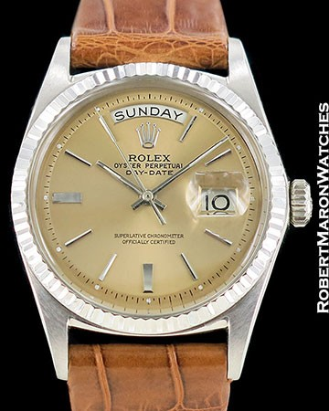 ROLEX VINTAGE DAY DATE PRESIDENT 1803 18K WHITE GOLD AUTOMATIC 1965