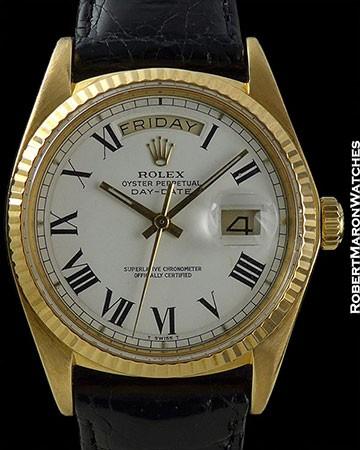 ROLEX DAY-DATE 1803 RARE WHITE BUCKLEY DIAL CIRCA 1977