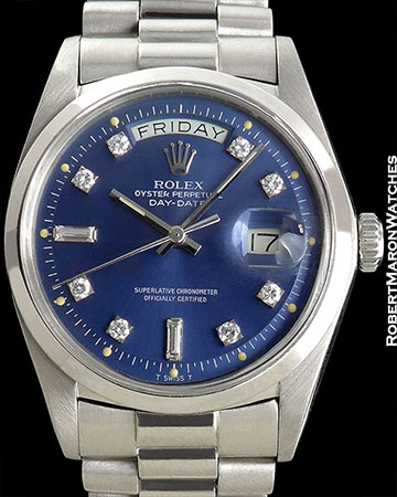 ROLEX REF 1804 DAY-DATE PLATINUM W/DIAMOND MARKERS