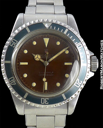 ROLEX REF 5512 SUBMARINER FULL TROPICAL DIAL CIRCA 1960