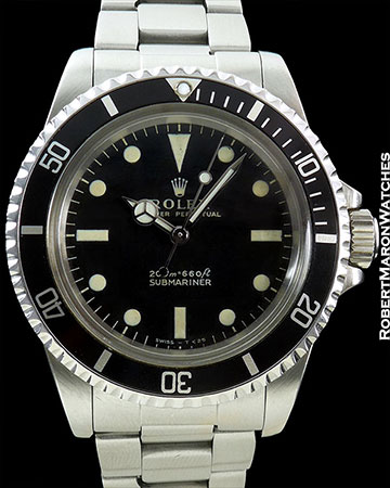 ROLEX 5513 SUBMARINER MATTE DIAL ORIGINAL PAPERS