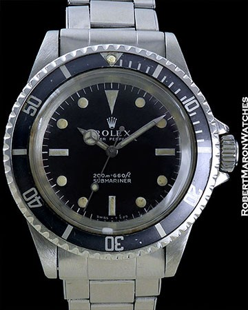 ROLEX 5513 SUBMARINER 1967 ORIGINAL LUMES