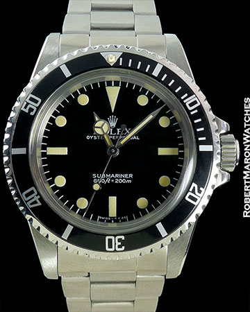 ROLEX SUBMARINER 5513 MINT++ CONDITION BOX & PAPERS