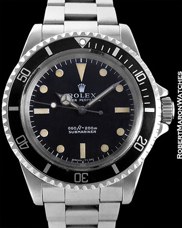 ROLEX REF 5513 SUBMARINER STEEL CIRCA 1970