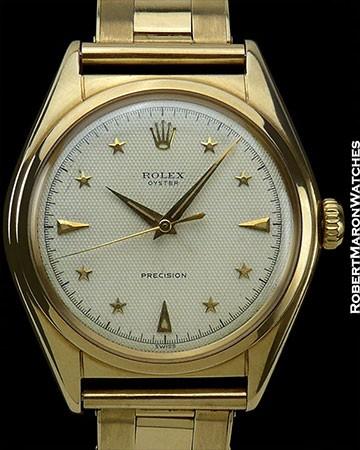 ROLEX STAR DIAL REF 6024 14K ORIGINAL & PRISTINE