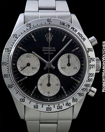 ROLEX 6239 DAYTONA BLACK DIAL SMALL LOGO 1965