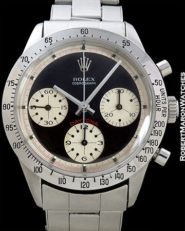 ROLEX 6239 DAYTONA PAUL NEWMAN 3-COLOR BLACK DIAL