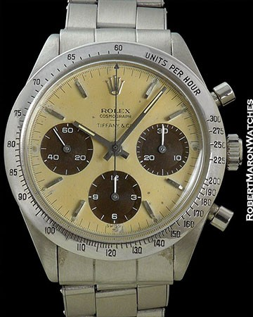 ROLEX TIFFANY DAYTONA 6239 UNDERLINE DIAL