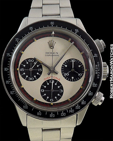 "ROLEX REF 6240 PAUL NEWMAN DAYTONA THREE COLOR ""LONG SWISS"" ONE OF THREE KNOWN"