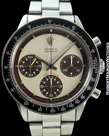 ROLEX 6241 PANDA PAUL NEWMAN DAYTONA TROPICAL SUBDIALS