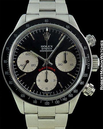 "ROLEX 6263 ""BIG RED"" DAYTONA MINT CIRCA 1980"