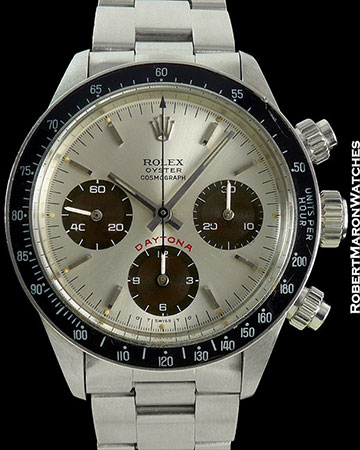 ROLEX DAYTONA 6263 BIG RED SIGMA TROPICAL SUBDIALS STEEL