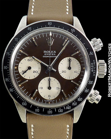 ROLEX DAYTONA 6263 TROPICAL CHOCOLATE DIAL STEEL