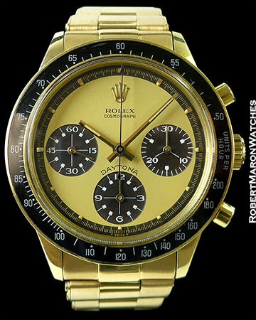 ROLEX 6264 DAYTONA UNPOLISHED 18K PAUL NEWMAN LEMON CHOCOLATE DIAL