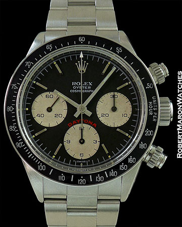 ROLEX BIG RED 6265 DAYTONA STEEL