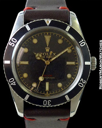 ROLEX 6536/6538 DOUBLE REFERENCE SUBMARINER RED PRINT DIAL