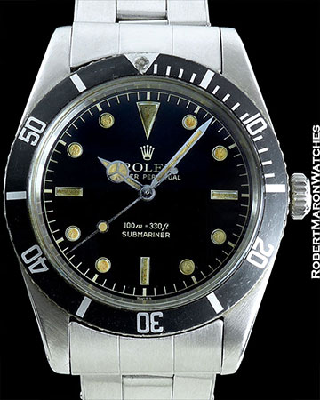 ROLEX SUBMARINER JB RED DEPTH WRITING