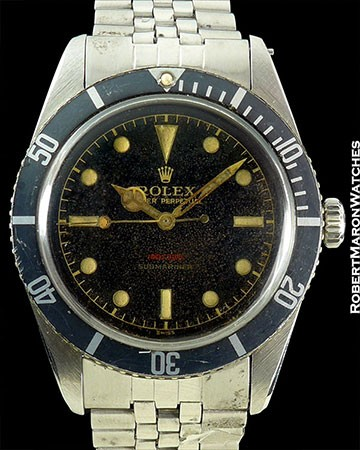 ROLEX JB SUBMARINER GILT UNDERLINE
