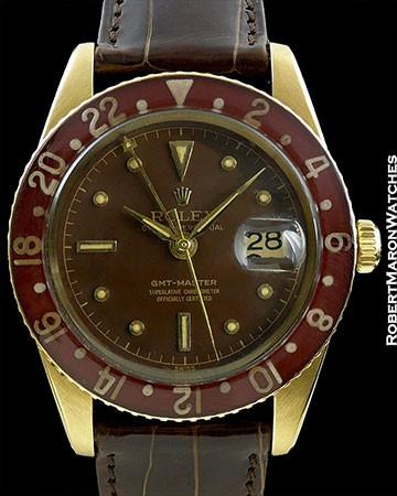 ROLEX GMT MASTER 6542 18K