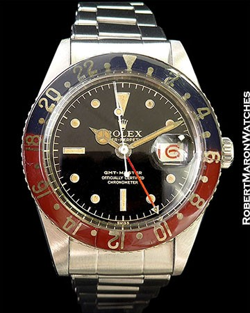 ROLEX 6542 GMT STEEL COMPLETE SET BOX PAPERS EVERYTHING 1959