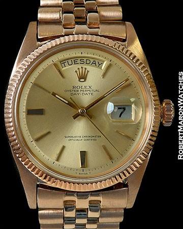 ROLEX 6611 18K ROSE GOLD DAY DATE PRESIDENT