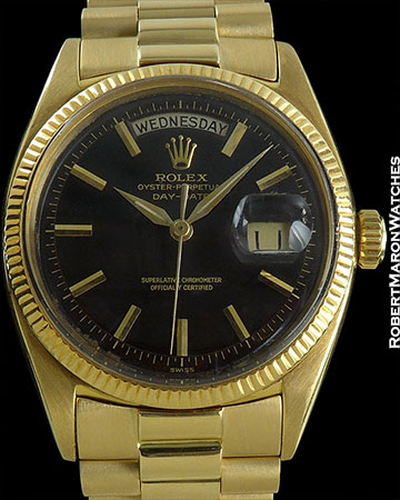 ROLEX 6611 B DAY-DATE PRESIDENT 18K ORIGINAL PAPERS
