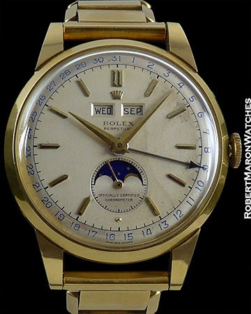 ROLEX 8171 TRIPLE DATE MOONPHASE PADELLONE 18K