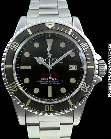 ROLEX 1665 DRSD DOUBLE RED SEA-DWELLER MARK IV GHOST BEZEL