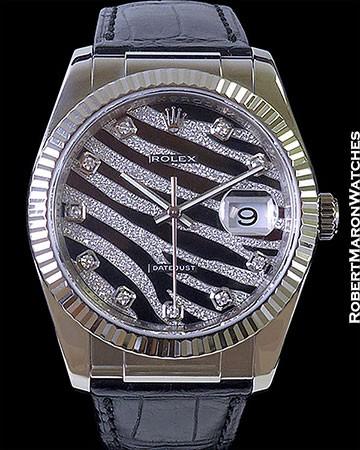 ROLEX 116139 DATEJUST ZEBRA DIAMONDS 18K WG