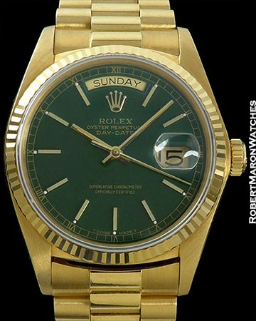 ROLEX DAY DATE GREEN ENAMEL