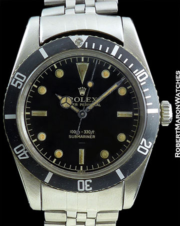 ROLEX 6536-1 JAMES BOND SUBMARINER GILT GLOSS UNDERLINE