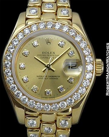 ROLEX DATEJUST LADIES DIAMOND BEZEL BRACELET