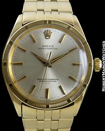ROLEX PERPETUAL 14K ON STRETCH 14K BRACELET