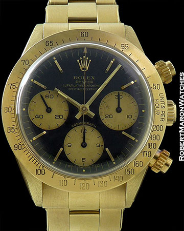 ROLEX REF 6265 DAYTONA SIGMA BIG EYE DIAL 3.9M SERIAL 18K CIRCA 1974