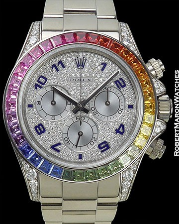ROLEX RAINBOW DAYTONA PIECE UNIQUE FOR SAMUEL ETO'O 116599RBOW