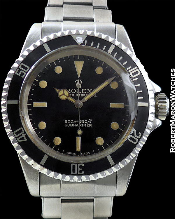 ROLEX REF 5513 SUBMARINER GILT DIAL BOX/PAPERS/TAGS CIRCA 1967