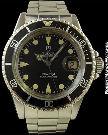 TUDOR 7021 SUBMARINER STEEL BLACK DIAL