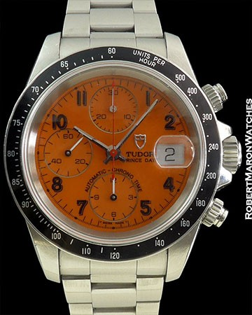 TUDOR ORANGE DIAL CHRONO