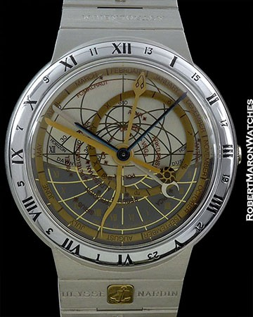 ULYSSE NARDIN ASTROLABIUM GALILEO GALILEI 18K WHITE GOLD ON BRACELET