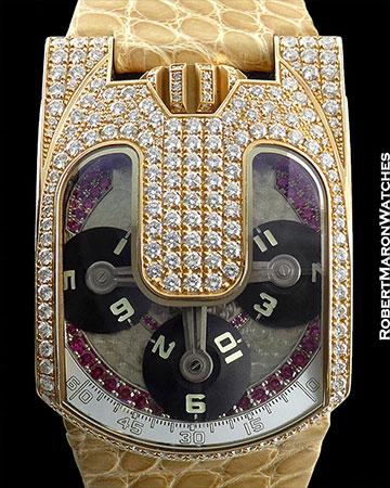 URWERK UR103 18K ROSE GOLD WITH DIAMOND/RUBIES PIECE UNIQUE