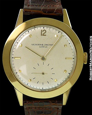 VACHERON CONSTANTIN VINTAGE OVERSIZED 18K NEW OLD STOCK w/ BOX SET