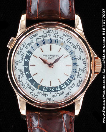 PATEK PHILIPPE WORLD TIMER 5110 18K ROSE GOLD