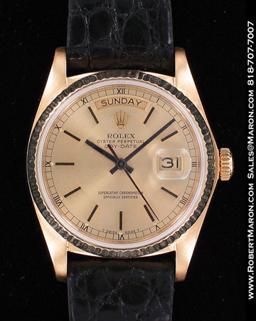 ROLEX OYSTER PERPETUAL DAY-DATE 18078 YG