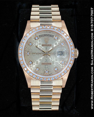ROLEX LADIES OYSTER PERPETUAL DAY-DATE 18349 BIC