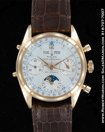 ROLEX VINTAGE TRIPLE DATE MONPHASE OYSTER CHRONOGRAPH