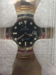 ROLEX 116748 SARU GMT II 18K BAGUETTE STONES NEW BOX PAPERS